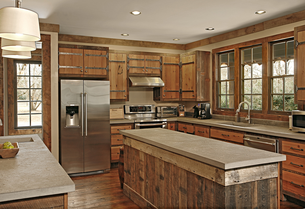 Kitchen classic cabin custom cabinets houston for Kitchen island houston