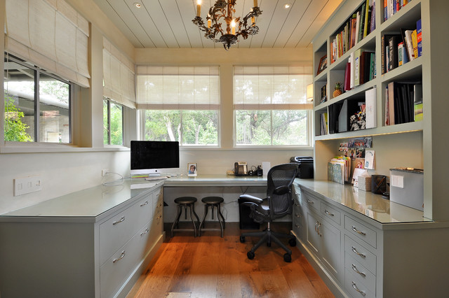 Clean And Contemporary Home Office