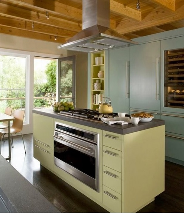 Kitchens modern industrial custom cabinets houston for Modern custom kitchen cabinets