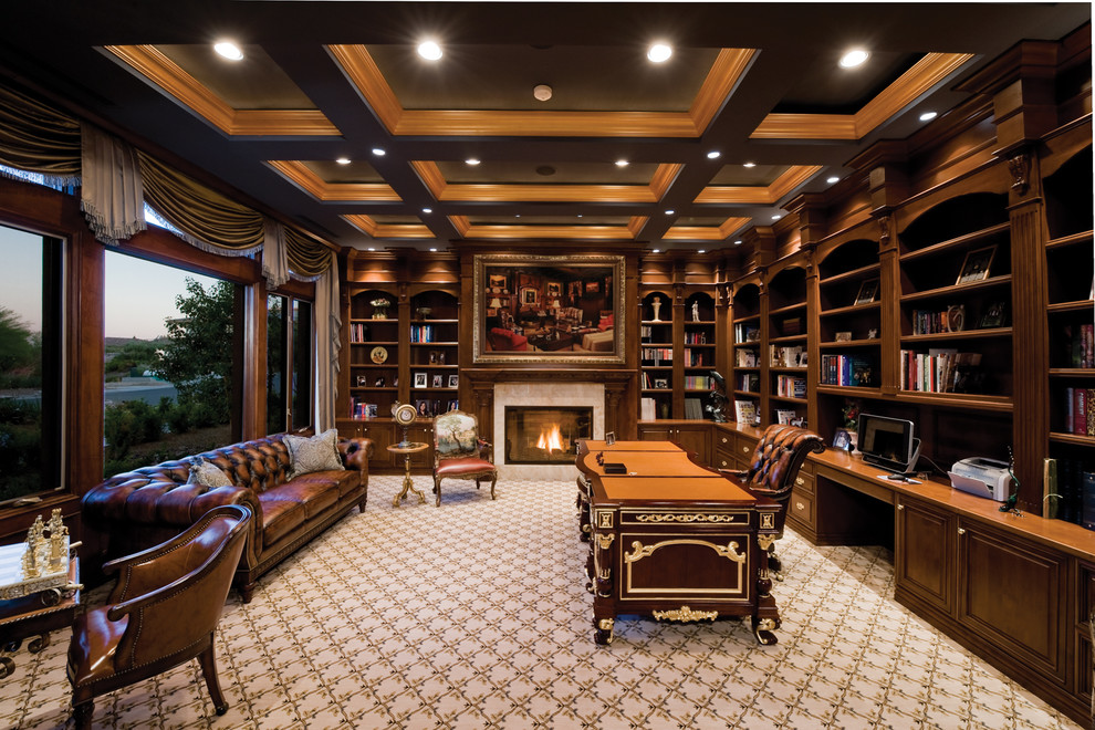 Traditional Home Office Custom Cabinets Houston