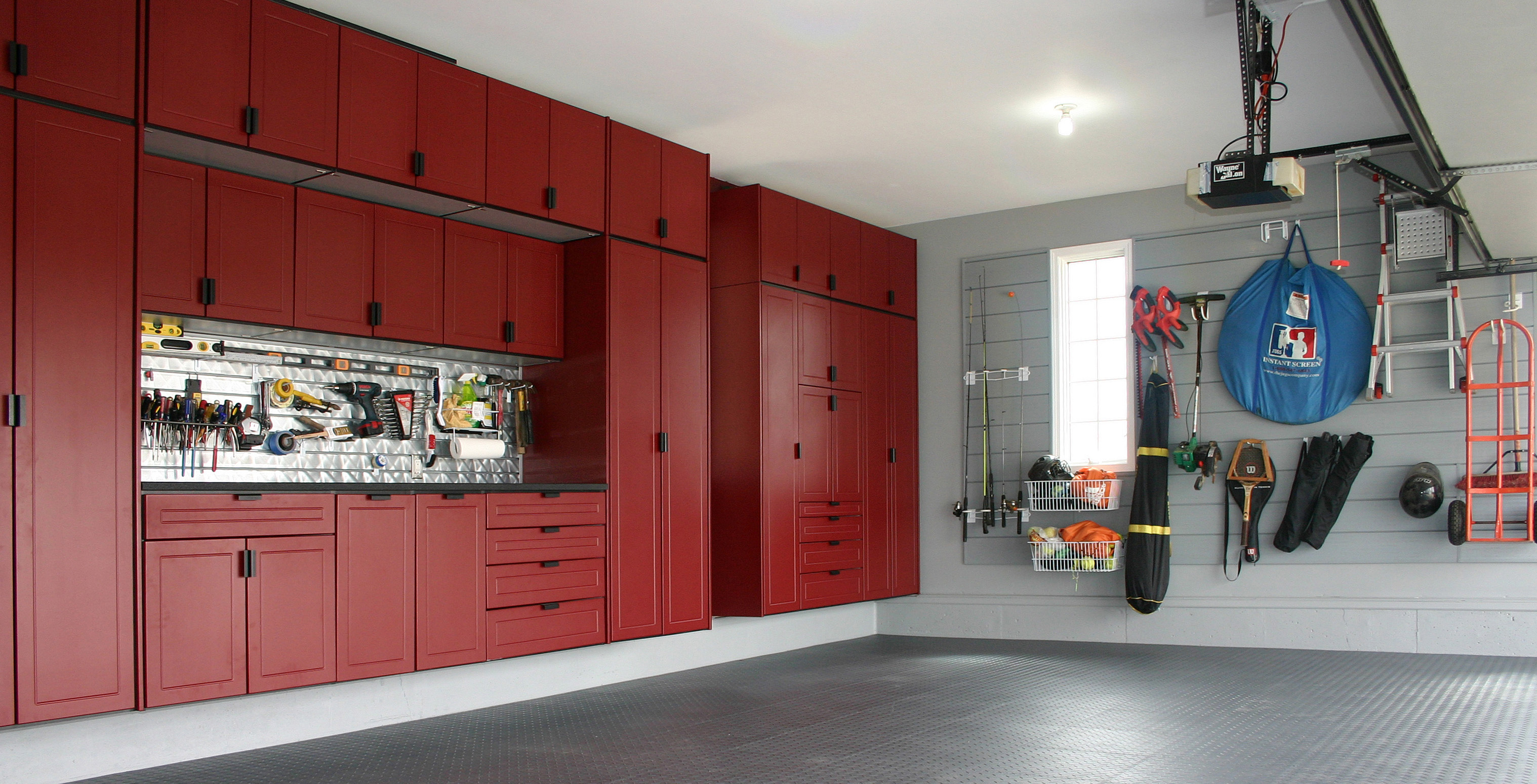 Custom Garage Cabinets In Red Custom Cabinets Houston