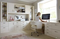 Modern Desk with Cabinets