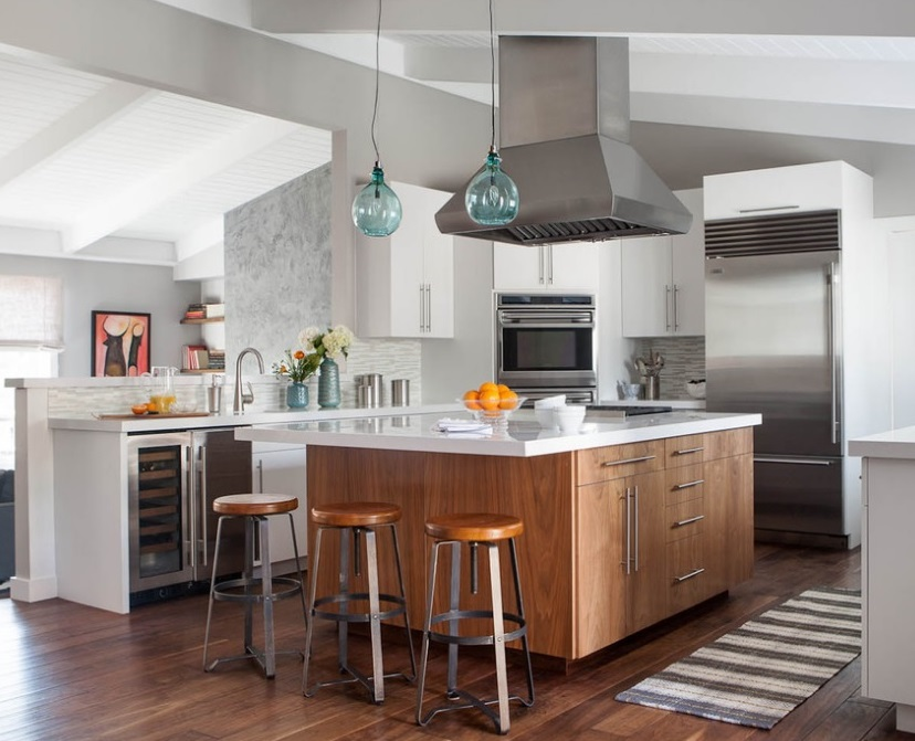 Incredible Contemporary Kitchen Island Slab Doors Paint And Stain Grade Home Interior And Landscaping Ologienasavecom