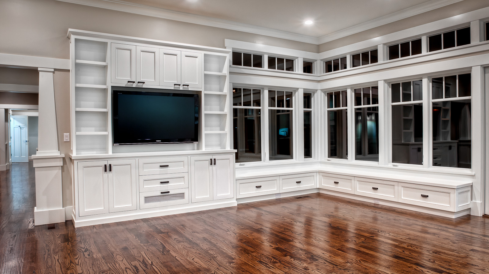 Traditional Entertainment Center | Custom Cabinets Houston - Cabinet ...